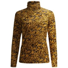 Sno Skins Burnout Velvet Turtleneck - Long Sleeve (For Women) in Gold Python - Closeouts
