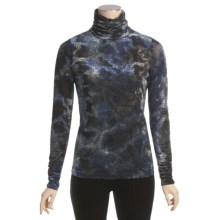 Sno Skins Burnout Velvet Turtleneck - Long Sleeve (For Women) in Midnight - Closeouts