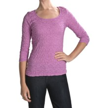 Sno Skins Cotton Pucker Shirt - Ballet Neck, 3/4 Sleeve (For Women) in Orchid - Closeouts