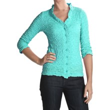 Sno Skins Cotton Pucker Shirt - Ballet Neckline, 3/4 Sleeve (For Women) in Aqua - Closeouts