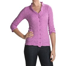 Sno Skins Cotton Pucker Shirt - Ballet Neckline, 3/4 Sleeve (For Women) in Orchid - Closeouts