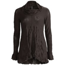Sno Skins Crinkle Pointelle Tunic Shirt - Long Sleeve (For Women) in Pumpernickel - Closeouts