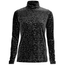 Sno Skins Embossed Plush Tech Velvet Turtleneck - Long Sleeve (For Women) in Black - Closeouts