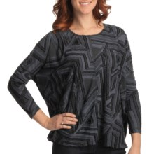 Sno Skins Eyelash Shirt - Ballet Neck, Long Sleeve (For Women) in Anthracite - Closeouts