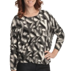Sno Skins Eyelash Shirt - Ballet Neck, Long Sleeve (For Women) in Mosaic