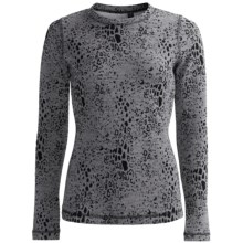 Sno Skins Leopard Denim Stretch Knit Shirt - Long Sleeve (For Women) in Grey Denim - Closeouts
