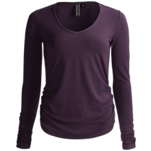Sno Skins Micro-Cashmerette Shirt - V-Neck, Long Sleeve (For Women) in Eggplant - Closeouts
