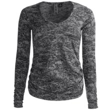 Sno Skins Micro-Cashmerette Shirt - V-Neck, Long Sleeve (For Women) in Granite Burnout - Closeouts