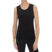 Sno Skins Micro-Cashmerette Tank Top - Scoop Neck (For Women) in Black - Closeouts