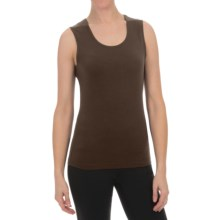 Sno Skins Micro-Cashmerette Tank Top - Scoop Neck (For Women) in Dark Roast - Closeouts