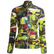 Sno Skins Microfiber Print Jacket - Zip Front (For Women) in Rock & Roll - Closeouts