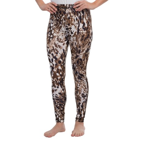 Sno Skins Microfiber Print Leggings (For Women) in Rocky Road