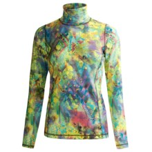 Sno Skins Microfiber Print Turtleneck - Long Sleeve (For Women) in Kaleidoscope - Closeouts