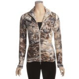 Sno Skins Microfiber Ruched Zip Jacket (For Women)