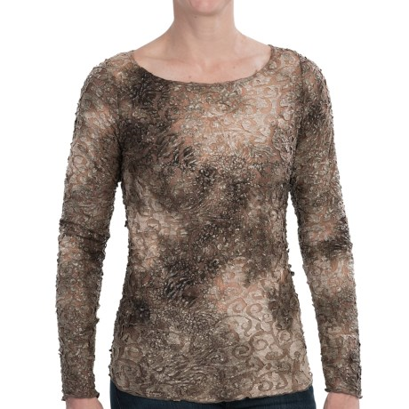 Sno Skins Paper Mache Shirt - Scoop Neck, Long Sleeve (For Women) in Toffee