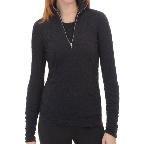 Sno Skins Pebbled Sport Shirt - Zip Neck, Long Sleeve (For Women) in White