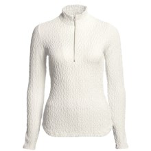 Sno Skins Pebbled Sport Shirt - Zip Neck, Long Sleeve (For Women) in White - Closeouts