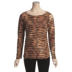 Sno Skins Pleated Stripes Shirt - Long Sleeve (For Women) in Chai