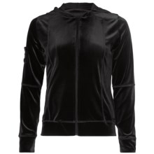 Sno Skins Plush Tech Velvet Jacket - Attached Hood (For Women) in Black - Closeouts