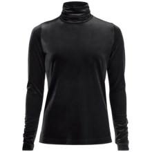 Sno Skins Plush Tech Velvet Turtleneck - Long Sleeve (For Women) in Black - Closeouts