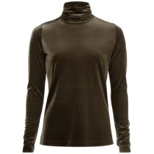 Sno Skins Plush Tech Velvet Turtleneck - Long Sleeve (For Women) in Olive - Closeouts