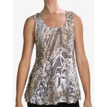 Sno Skins Printed Angel Hair Tank Top (For Women) in Mocha Swirl - Closeouts