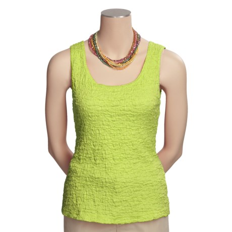 Sno Skins Pucker Cotton Tank Top (For Women) in Limon