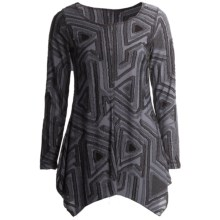 Sno Skins Textured Knit Eyelash Tunic Shirt - Long Sleeve (For Women) in Anthracite - Closeouts