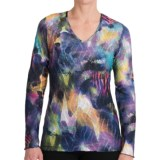 Sno Skins Textured Ripple Effect Shirt - Burnout Fabric, Long Sleeve (For Women)
