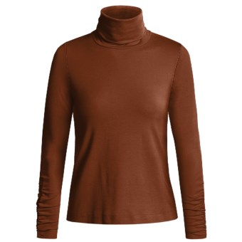 Sno Skins Turtleneck - Long Sleeve  (For Women) in Sienna