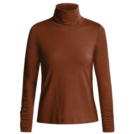 Sno Skins Turtleneck - Long Sleeve  (For Women) in Sienna