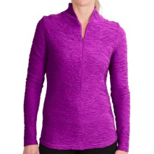 Sno Skins Web Funnel Neck Shirt - Zip Neck, Long Sleeve (For Women) in Cerise - Closeouts