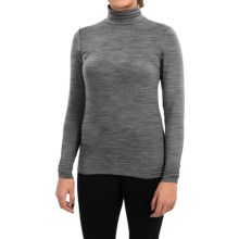 Snow Angel Cashmere Turtleneck - Long Sleeve (For Women) in Slate - Closeouts