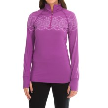 Snow Angel Chami Alpine Graphic Base Layer Top - Zip Neck, Long Sleeve (For Women) in Berry - Closeouts