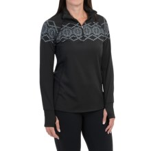 Snow Angel Chami Alpine Graphic Base Layer Top - Zip Neck, Long Sleeve (For Women) in Black - Closeouts