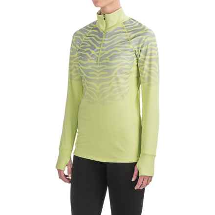 Snow Angel Chami Catniss Base Layer Top - Zip Neck, Long Sleeve (For Women) in Citrus - Closeouts