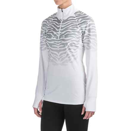 Snow Angel Chami Catniss Base Layer Top - Zip Neck, Long Sleeve (For Women) in White - Closeouts