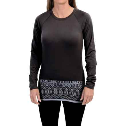 Snow Angel Chami Graphic Base Layer Top - Crew Neck, Long Sleeve (For Women) in Black - Closeouts