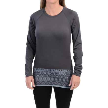 Snow Angel Chami Graphic Base Layer Top - Crew Neck, Long Sleeve (For Women) in Charcoal - Closeouts