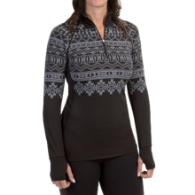 Snow Angel Chami Graphic Base Layer Top - Zip Neck, Long Sleeve (For Women) in Black - Closeouts