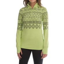 Snow Angel Chami Graphic Base Layer Top - Zip Neck, Long Sleeve (For Women) in Citrus - Closeouts