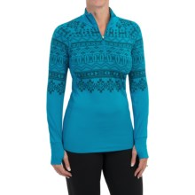 Snow Angel Chami Graphic Base Layer Top - Zip Neck, Long Sleeve (For Women) in Diva Blue - Closeouts