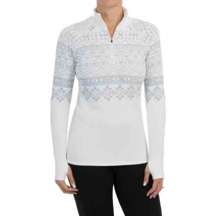 Snow Angel Chami Graphic Base Layer Top - Zip Neck, Long Sleeve (For Women) in White - Closeouts