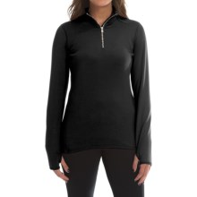 Snow Angel Chami Rainbow Zip Base Layer Top - Zip Neck, Long Sleeve (For Women) in Black - Closeouts