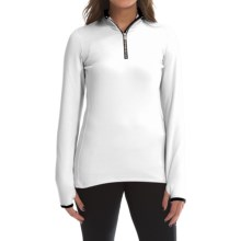 Snow Angel Chami Rainbow Zip Base Layer Top - Zip Neck, Long Sleeve (For Women) in White - Closeouts