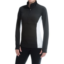 Snow Angel Chami Slimline Base Layer Top - Zip Neck, Long Sleeve (For Women) in Black - Closeouts