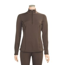 Snow Angel Chamonix Base Layer Top - Zip Neck, Long Sleeve  (For Women) in Taupe - Closeouts