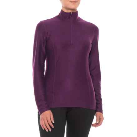 Snow Angel Doeskin Base Layer Top - Zip Neck, Long Sleeve (For Women) in Plum - Closeouts