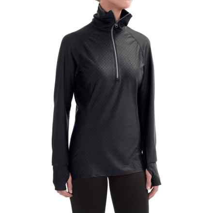 Snow Angel Doeskin Diamond Duchess Turtleneck - Zip Neck, Long Sleeve (For Women) in Black - Closeouts