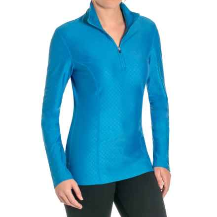 Snow Angel Doeskin Diamond Essential Base Layer Top - Zip Neck, Long Sleeve (For Women) in Azul - Closeouts
